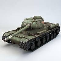 3D soviet heavy tank model