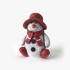 3D snow man model