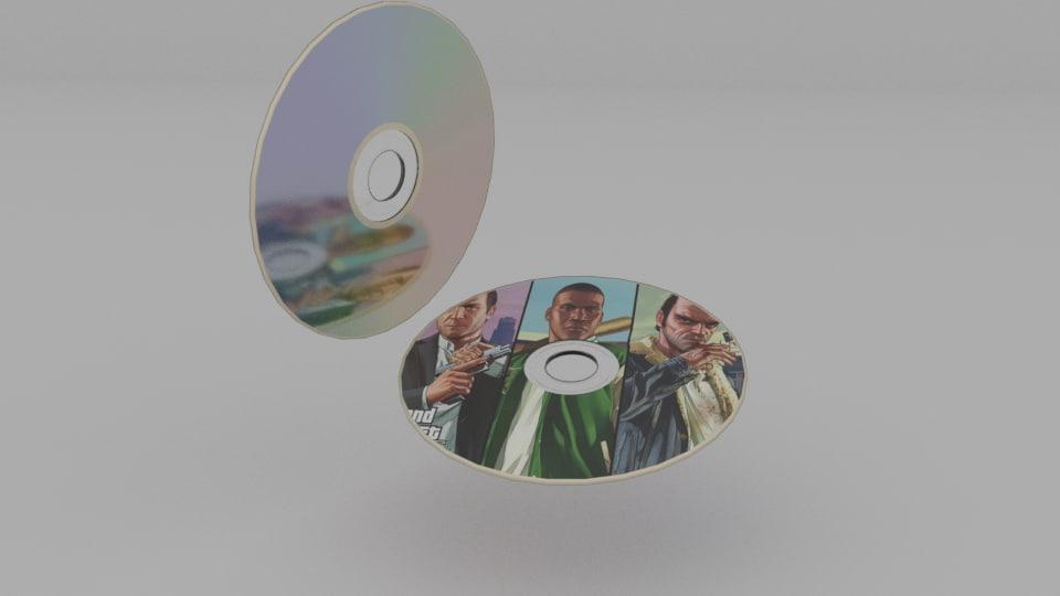 3D dvd blender model