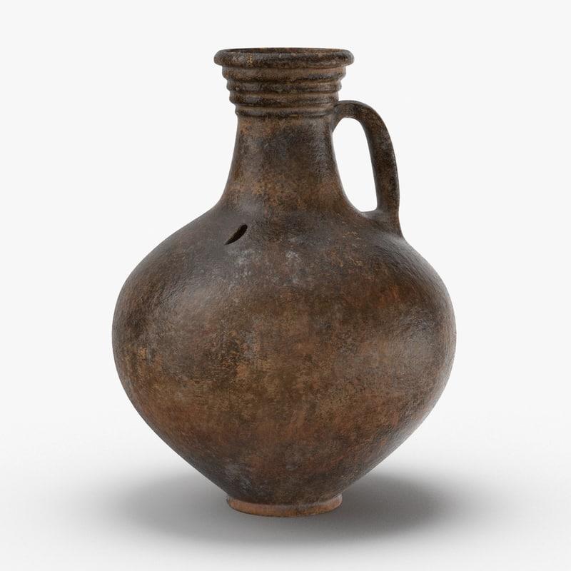 ceramic wine jug model