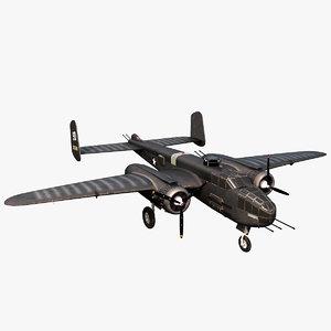 north american b-25 mitchell 3D model