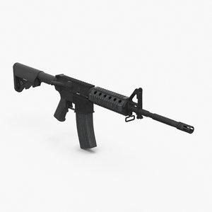 military assault rifle m4 3D model
