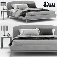 flou olivier bed interior 3D model