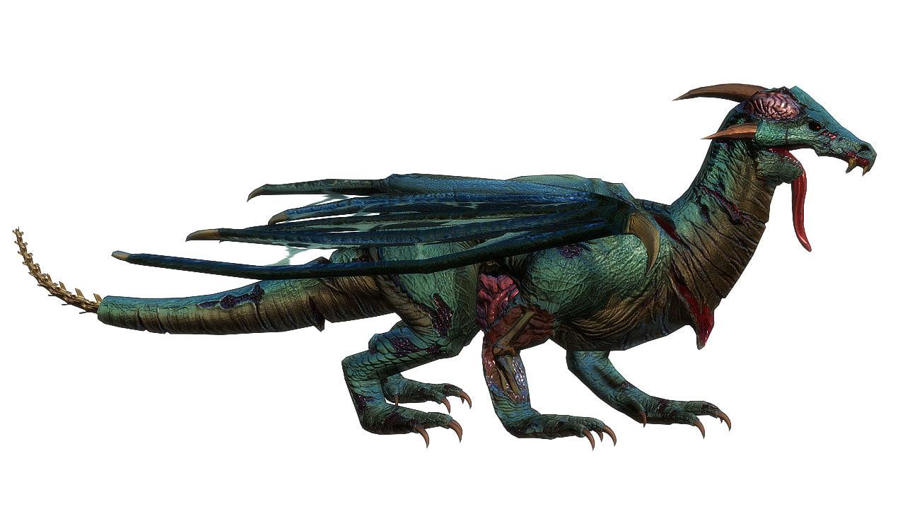 3D dragon zombie