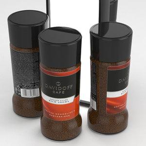 davidoff coffe 3D model
