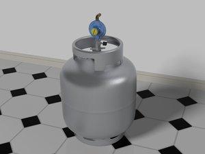 gas bottle regulator 3D