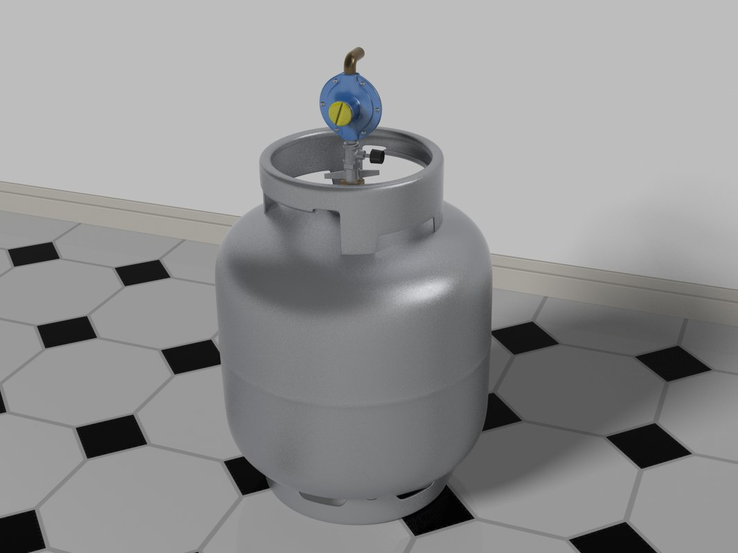 gas bottle regulator 3D
