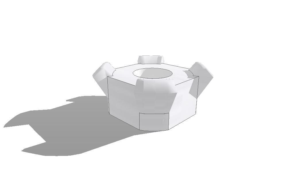 3D square weld m6 jis model