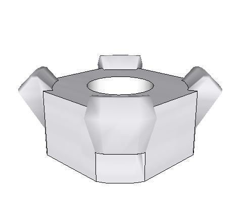 3D square weld nut