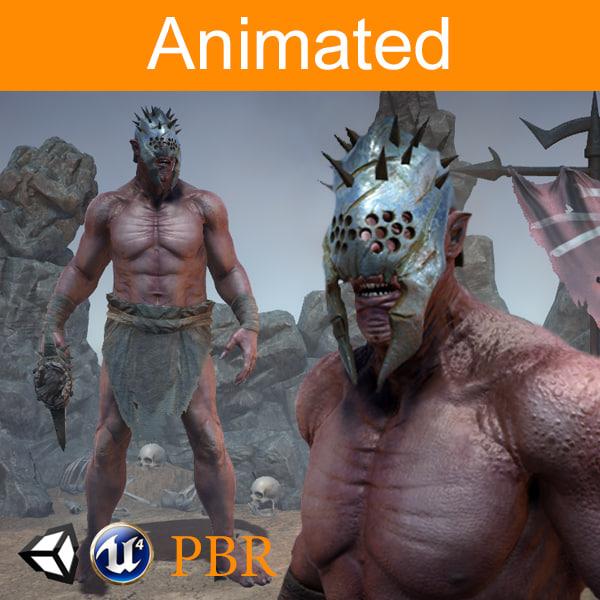 3D character orc azrak