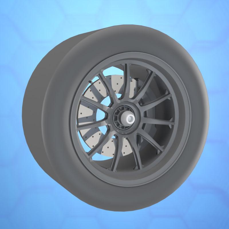3D car wheel mclaren