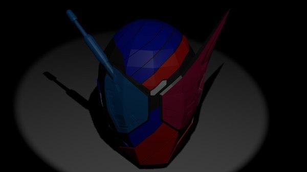3D model helmet kamen rider