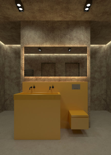 bathroom toilet sink faucet 3D model