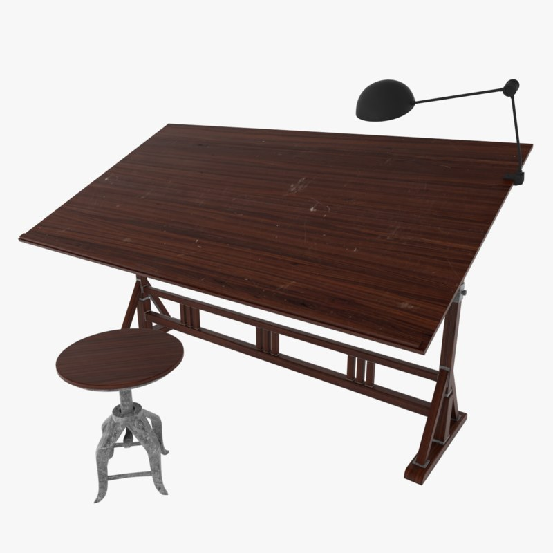 3D model drafting table