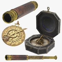 Astrolabe Compass and Spyglass