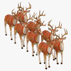 reindeer standing 3D model