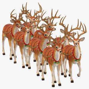 3D reindeer walking model