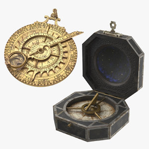 astrolabe compass 3D