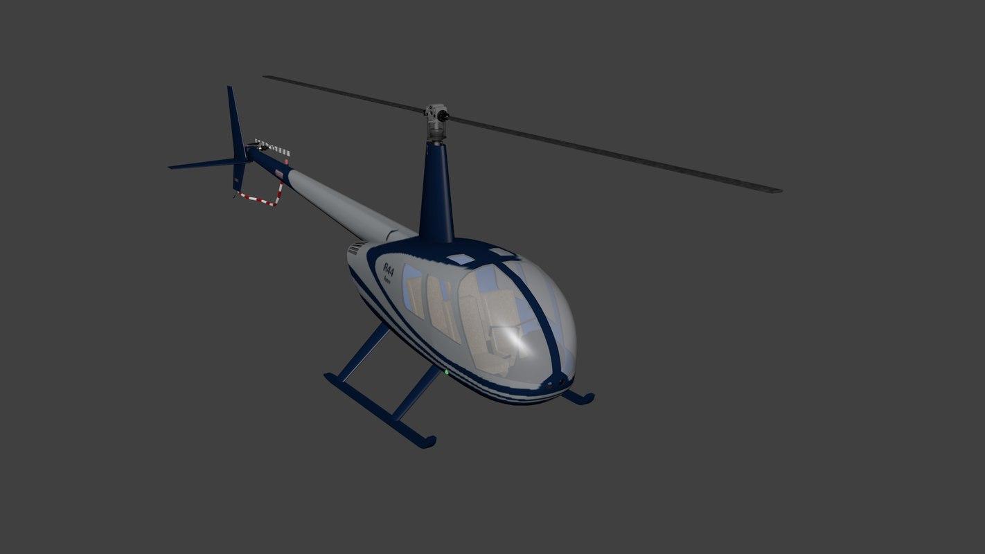 3D model helicopter blender