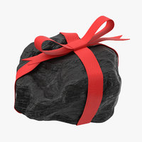 lump coal ribbon 02 3D model
