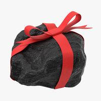 Lump of Coal With Ribbon 02