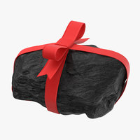 3D lump coal ribbon 03 model