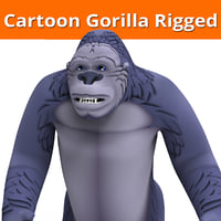3D cartoon gorilla rigged