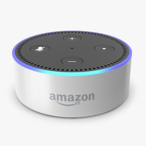 amazon echo dot white 3D model