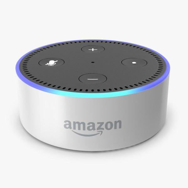 amazon echo dot white 3D model