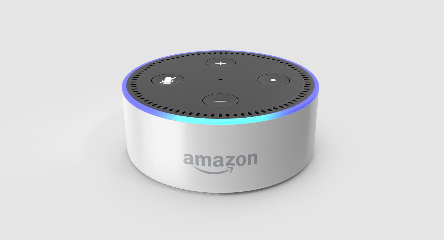 Amazon Echo Dot White 3d Model Turbosquid 1235457