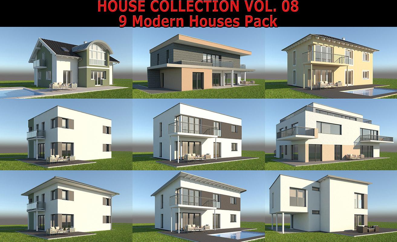 family houses 3D model