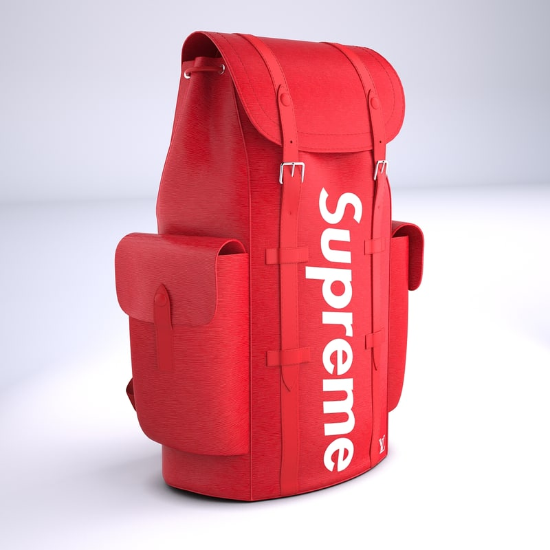 3D supreme louis vuitton bag