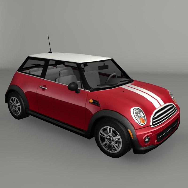 3D small city car model