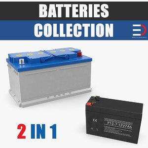 batteries volt car 3D