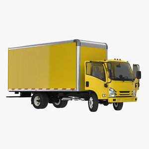 box truck generic rigged 3D model