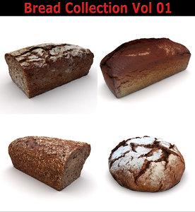 3D model scan loaf breads