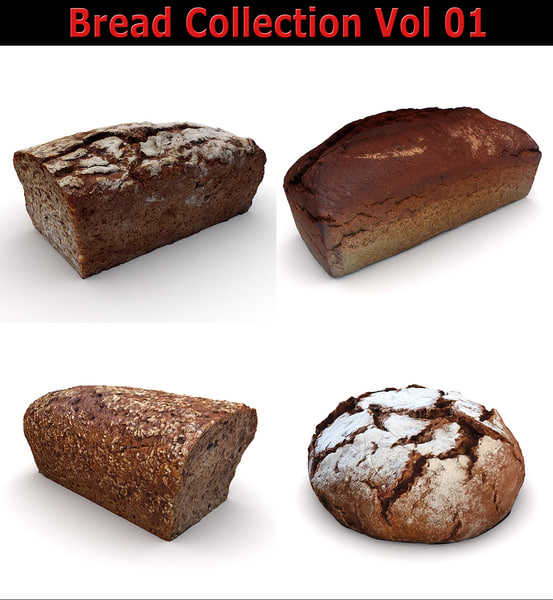 3D model scan loaf breads