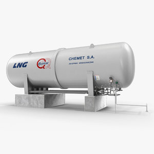 3D model lng cryogenic storage tank