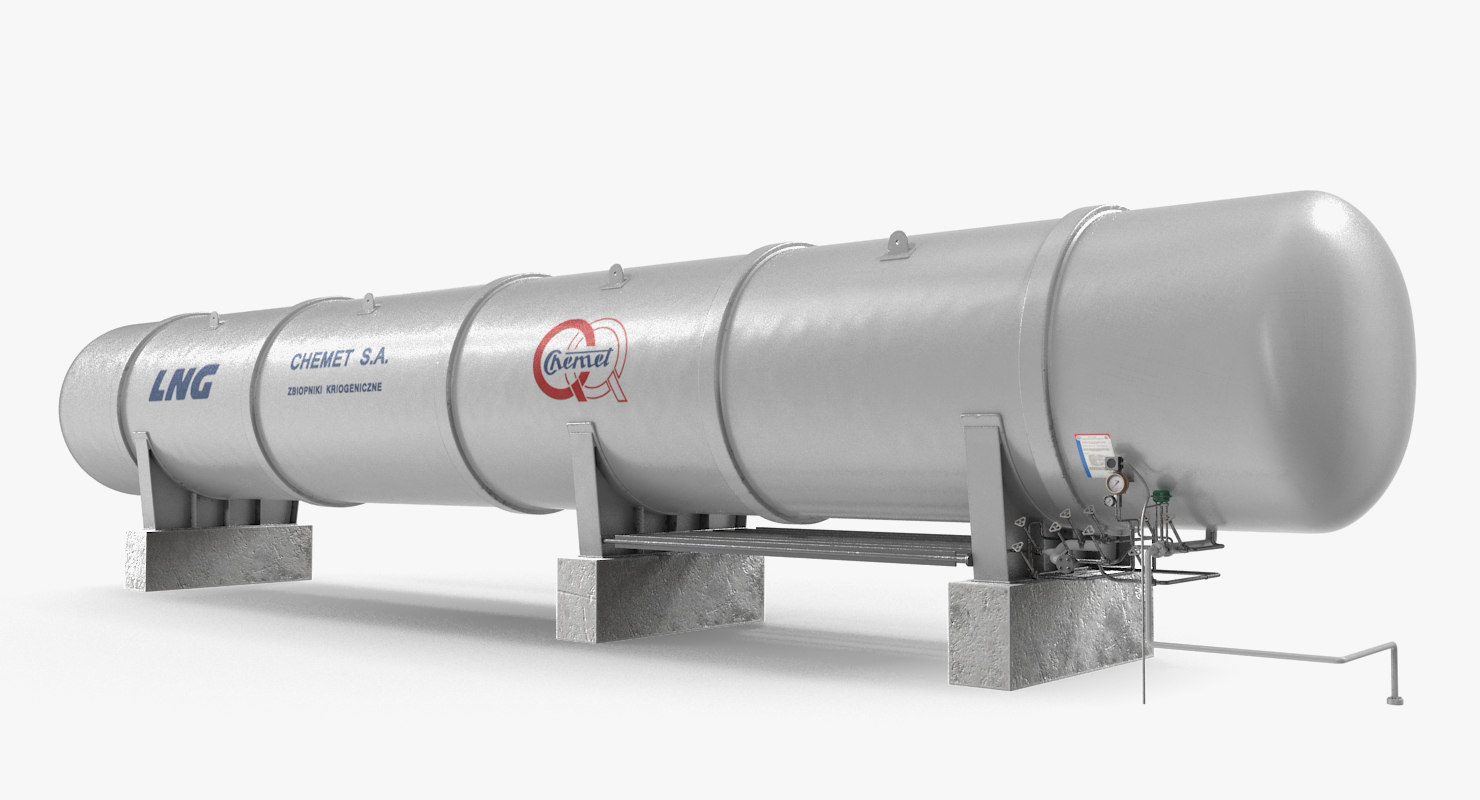 3D lng storage tank