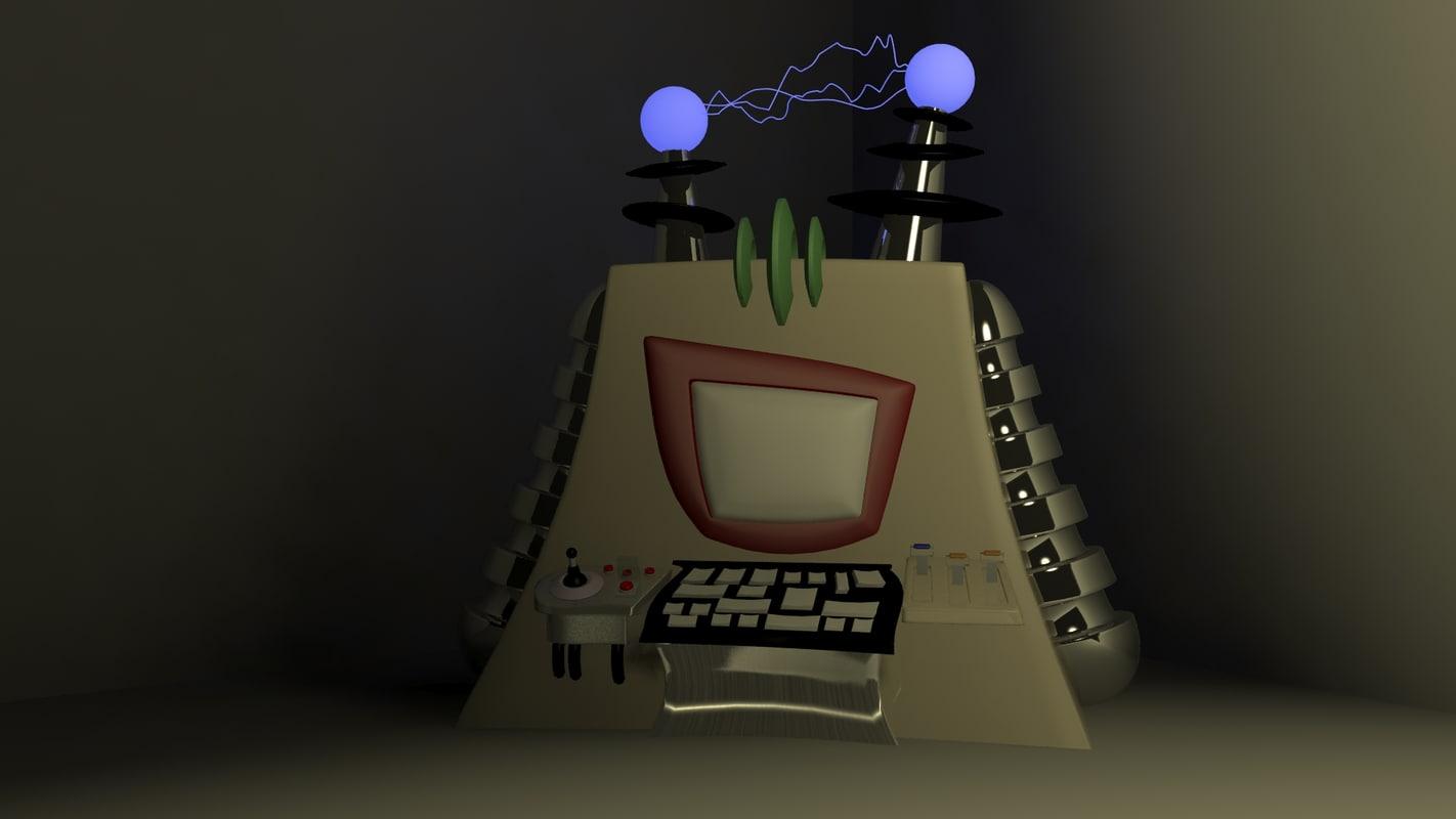computer cartoon 3D model
