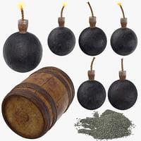 pirate bomb gunpowder powder model