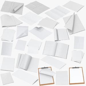 3D model paper mockups mock