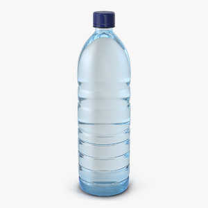 plastic water bottle 3D model