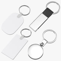 keychain mockups promotional key 3D model