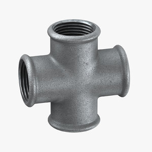 3D galvanized steel pipes fitting