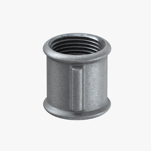 galvanized steel pipe fitting 3D model
