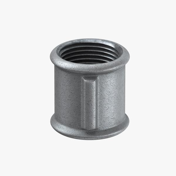 galvanized steel pipe fitting 3D model