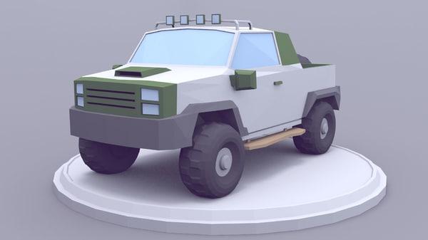 3D model car pickup
