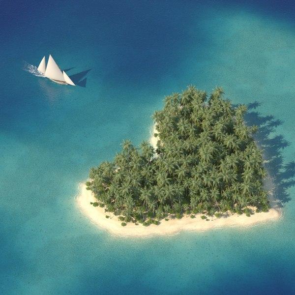 3D model scene tropical islands