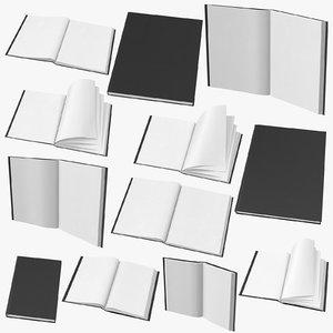 bound sketchbooks 3D model